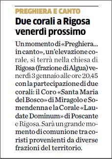 Articolo apparso sul quotidiano -L'Eco di Bergamo- di sabato 28 dicembre 2013